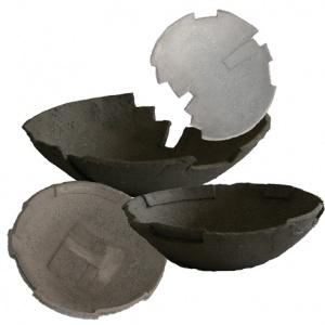 Collage schalen grijs beton klein
