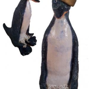 pinguin voor en zij